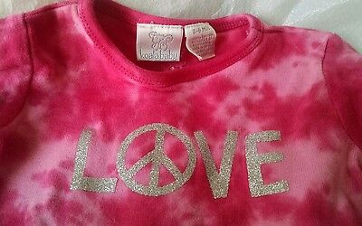 EASTER EGG PINK Tie dyed PEACE Love Baby Onesies 3-6 months