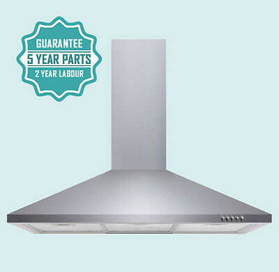 iivela IVCH90SS 90cm Chimney Cooker Hood in Stainless Steel 8003