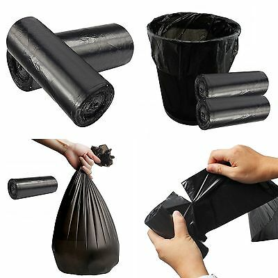 1 Roll Black Rubbish Garbage Toilet Clean-up Waste Trash Bags 50*60cm