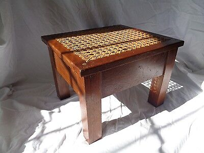 Arts and Crafts Mission Foot Stool In  Stickley Limbert Style