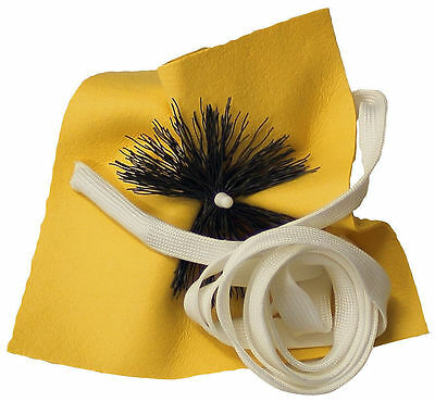 Alto Sax Saxophone Pull Through Swab Cleaner Chamois