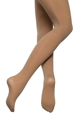 Girls Ladies Light Suntan Tan 60 Denier Full Foot Ballet Dance Tights By Katz