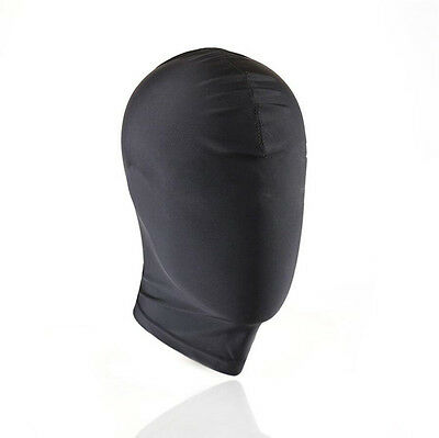 Black Spandex, Mask Hood wet look PVC full face covered PRIVATE....