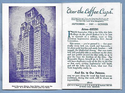 VINTAGE BROCHURE HOTEL GOVERNOR CLINTON NY NY 1937 24 pages VERY CLEAN
