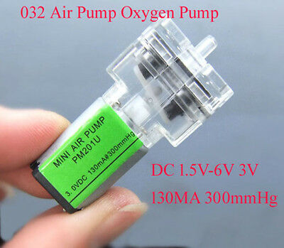 DC 3V-6V Micro Mini Pressure Oxygen Air Pump Aquarium DIY For Sphygmomanometer