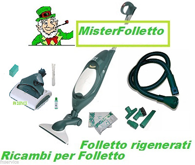 Scopa elettrica  VORWERK FOLLETTO vk 140 + SP520 lavapavime x VK200