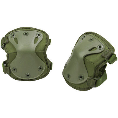 Mil-Tec Protect Elbow Pads Protection Army Combat Guard Skating Gear Work Olive