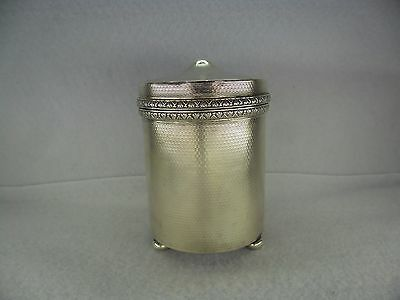 Art Deco Sterling Solid Silver Cigarette Dispenser, London 1930
