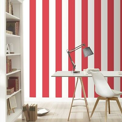 Red and White Stripe Wallpaper by Rasch Just Me Range 286915