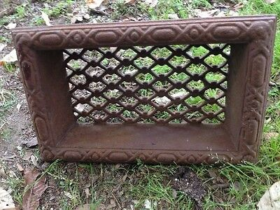 Antique Cast Iron Victorian Ornate Side Wall Vent Vintage