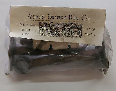 "Antique Drapery Rod Co. 5.5"" Tube / Towel Bracket. 1 Pair. Bronze Finish  BRNTTL"