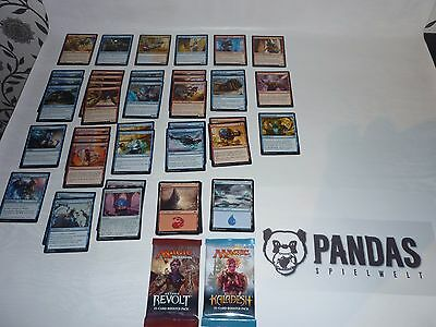 Magic the Gathering blau rotes Energy  Deck Paket