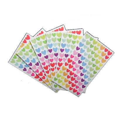 504 gommette stickers coeur multicolore