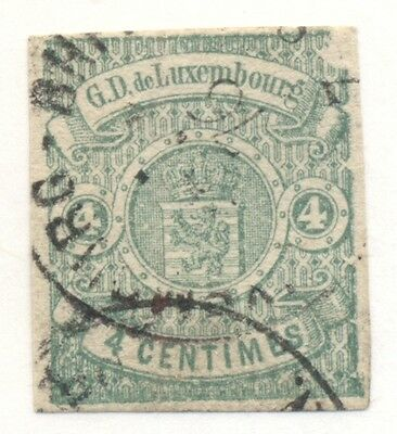 LUXEMBOURG #27 Used, 4 margins, good color Scott $110.00