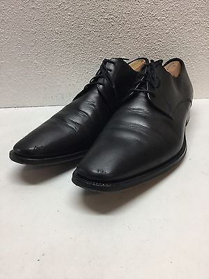 To Boot New York Felix Black Leather Plain Toe Oxford Mens Shoes Size 12 M