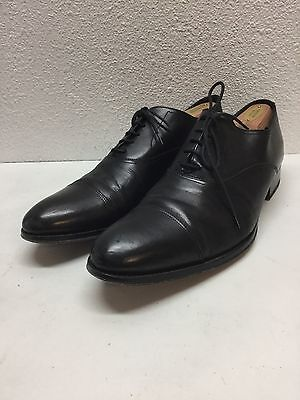 To Boot New York Aidan Black Leather Cap Toe Oxfords Shoes Mens Size 9.5