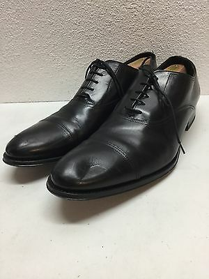 To Boot New York Brandon Black Leather Cap Toe Oxford Shoes Mens Size 12