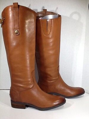 SAM EDELMAN Penny Women's Size 7.5 Brown Leather Knee High Boots X1-939