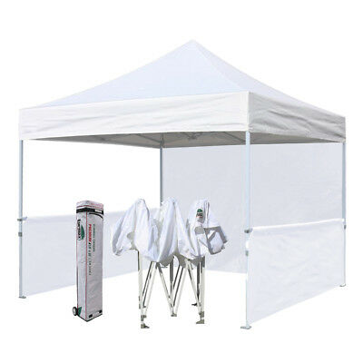 10X10 White Ez Pop Up Canopy Commercial Outdoor Vendor Craft Show Booth Tent