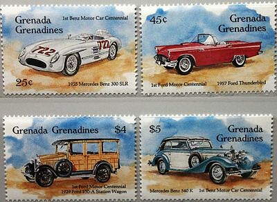 GRENADA GRENADINES 1993 1825-28 Block 294-95 Mercedes Benz Ford Cars Autos MNH