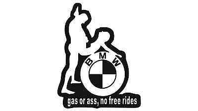 BMW Gas Or Ass Car Sticker Buy 2 Get 3 / Buy 3 Get 5 / Buy 5 Get 10