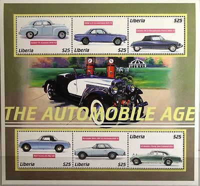 LIBERIA 2001 Klb 3942-53 Block 393 World Cars Autos Automobile VW Käfer MNH