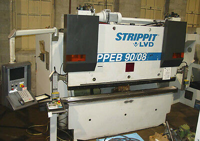 "90 Ton x 96"" (8') Strippit / LVD CNC Hydraulic Press Brake PPEB 90/08, New 2003"