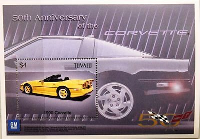TUVALU 2003 Block 105 Chevrolet Corvette 1990 Automobile Car Auto Sportwagen MNH
