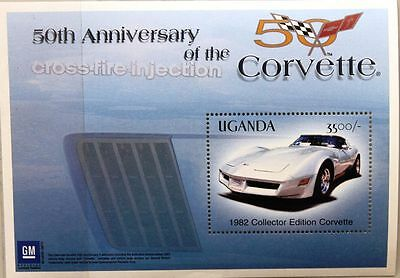 UGANDA 2003 Block 363 Chevrolet Corvette 1982 Automobile Car Auto Sportwagen MNH