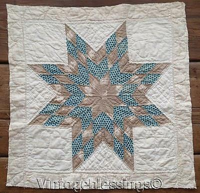 EARLY PRE Civil War Antique c1830-1860 Star QUILT BLOCK Piece