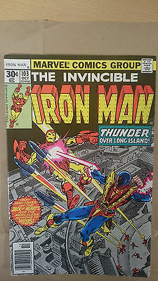 Marvel Comics Invincible Iron Man #103 October 1977 VF first print