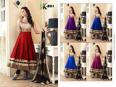 Anarkali Frock Dress party Wedding Wear blue