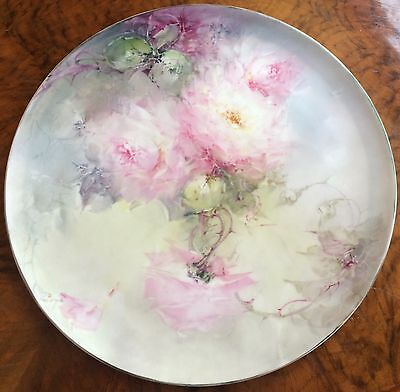 Original Franz B Aulich Large Hand Painted Porcelain Charger, 1910, T&V Limoges