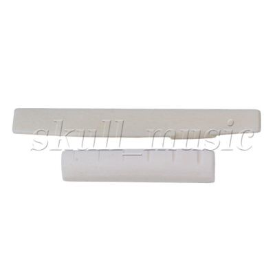 Bone Guitar Nut Saddle For Acoustic Guitar 43x6x9/8.5mm