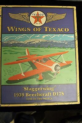 "Texaco ""Staggerwing"" 1939 Beechcraft D17S  Die-Cast Airplane"