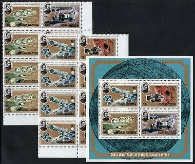 COOK ISLANDS MNH 1980 SG708-12 Death Anniv of Jules Verne Blocks + M/S