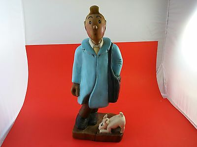"""Tintin Statue - Crafted by hand (app. 20"""" x 15"""" x7"""")"""