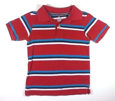 The Children's Place Polo Shirt 4T Toddler Boy Red White Blue Black Striped