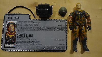 1990 GI Joe Free Fall w/File Card! Vintage Action Figure -P