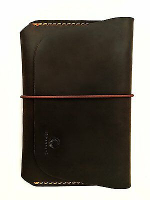 Leather Passport Holder for Men & Women - Genuines Wallet Case for 1 or 2 brown