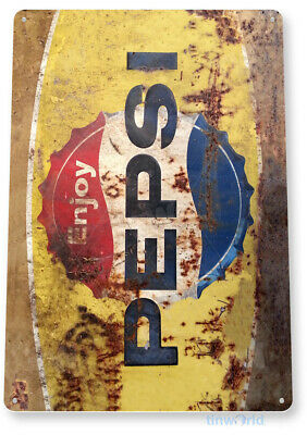 TIN SIGN Pepsi Rusty Retro Metal Décor Wall Art Soda Store Shop A564