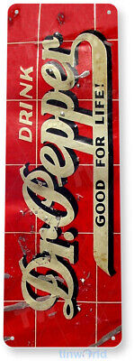 TIN SIGN Dr Pepper Metal Décor Wall Art Cola Store Shop Cave A341