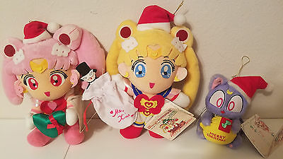 Sailormoon SUPER S SAILOR MOON CHRISTMAS PLUSH SET #1 BANPRESTO JAPAN