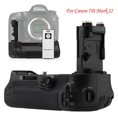 BG-E16 Battery Grip Replacement for Canon 7D Mark II Camera + Remote Control