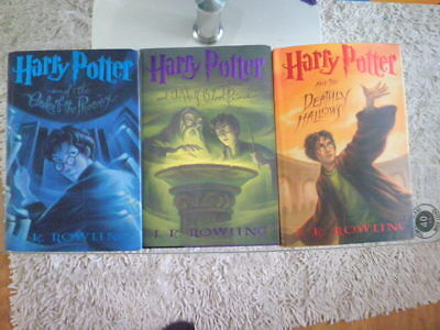 Harry Potter and the Deathly Hallows & Order Of The Phoenix USA FirsEdition H/C