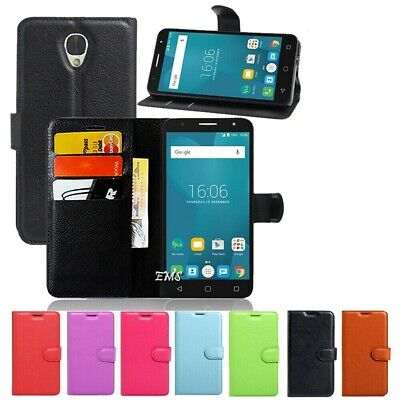 """New Wallet Leather Case Cover For Optus X Smart 4G 5.5"""" + FREE Screen Protector"""