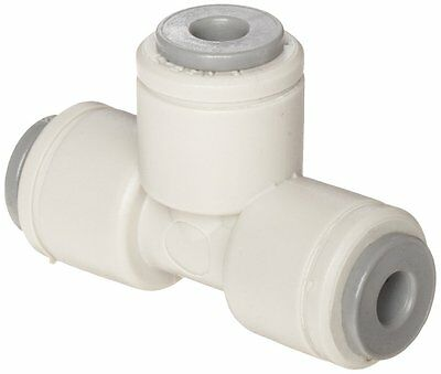 "John Guest Acetal Copolymer Tube Fitting, Union Tee, 3/16"" Tube OD Pack of 10"