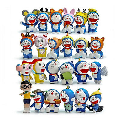 24pcs Doraemon Toy Set Action Figure Dolls Anime Characters Collection Gift