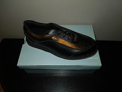 New! Linds RUSH Mens Bowling Shoes Black LH Left Hand size 8-8.5