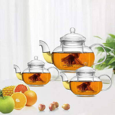 Heat Resistant Glass Teapot with Infuser Coffee Green/Black Tea 400ML -1000ML